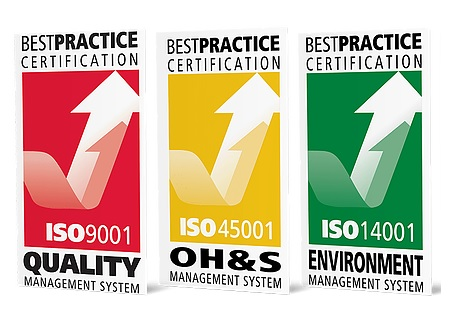 Best Practice Certification - Quality, Safety and Environment